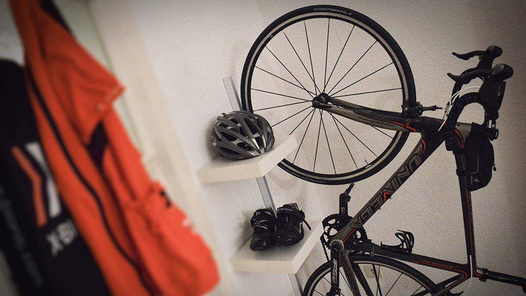 fahrrad wandhalterung zum selber bauen. Black Bedroom Furniture Sets. Home Design Ideas