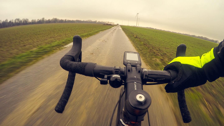Radfahren im deutschen Matsch