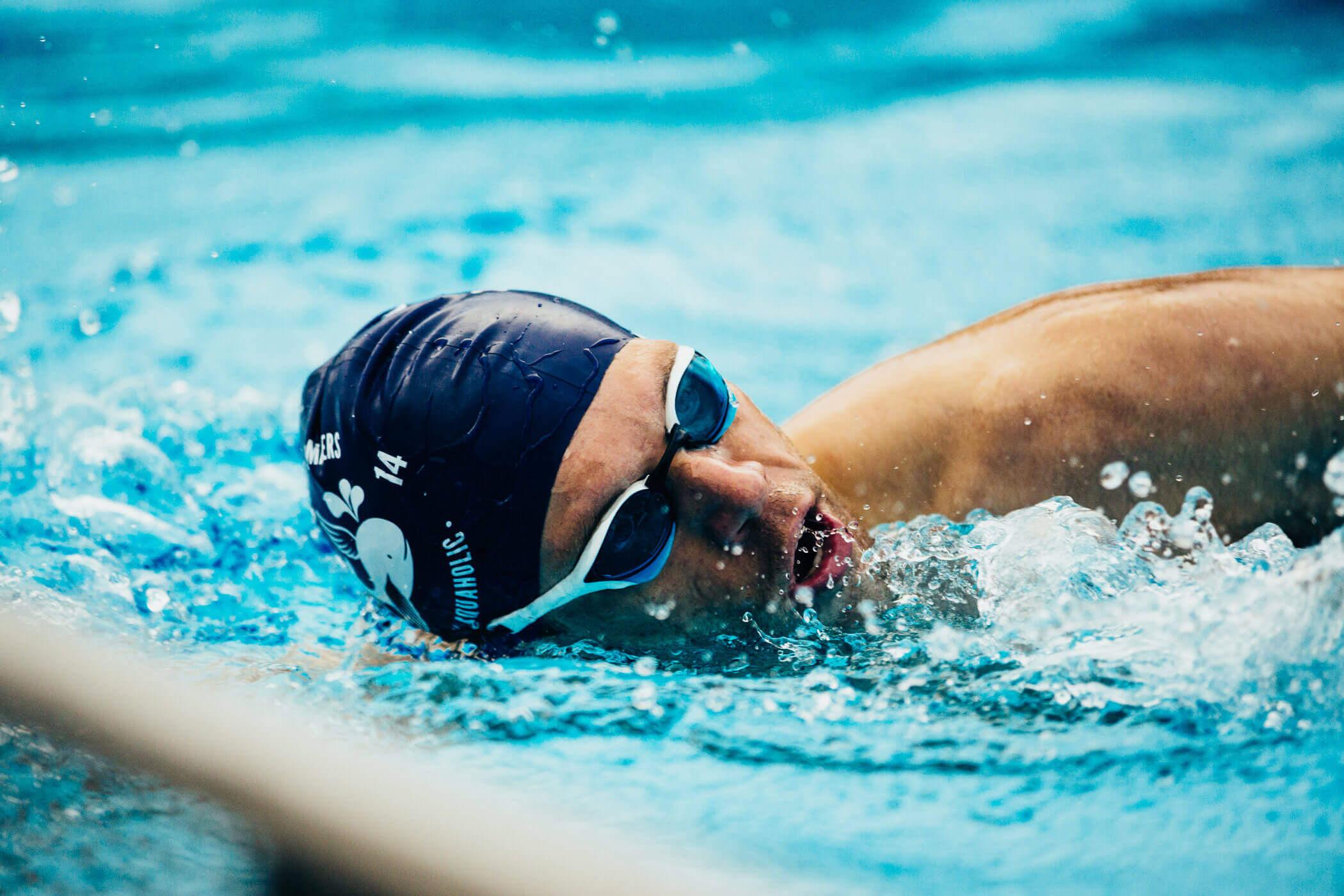 Das Schwimmen klappt schon wieder richtig gut