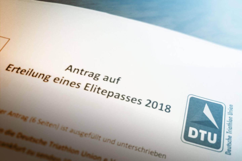 Antrag auf die Erteilung eines Elitepasses der DTU