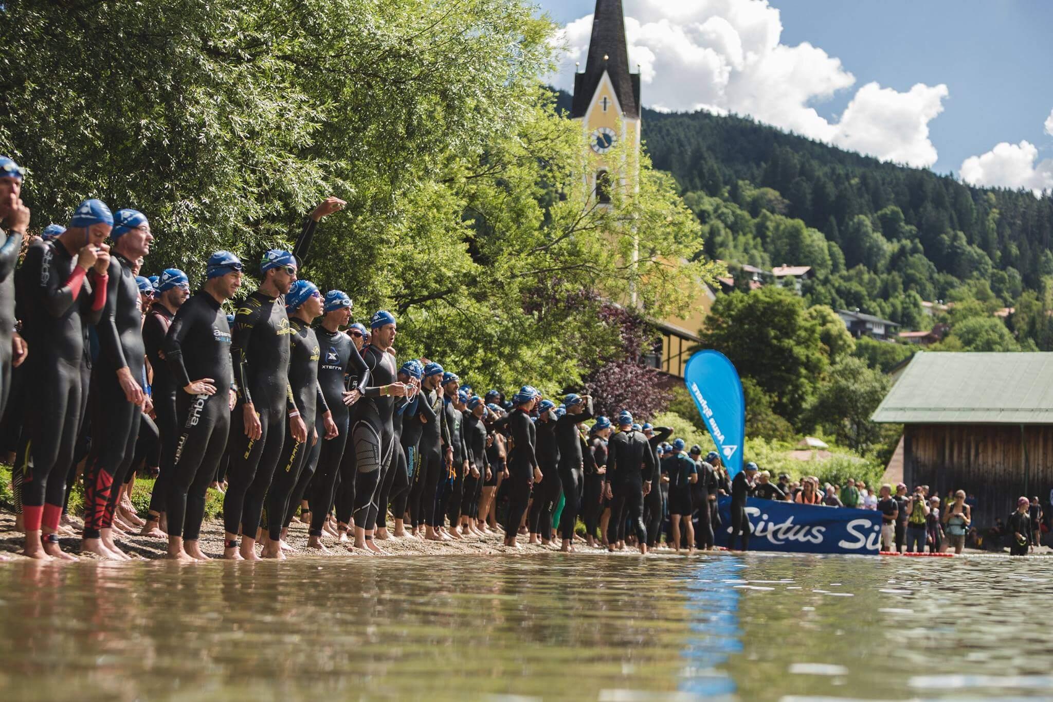 Start des Sixtus Schliersee Alpentriathlon