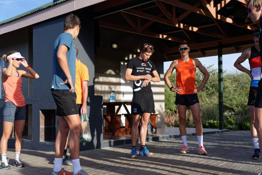 Namibia Trainingslager Laufgruppe