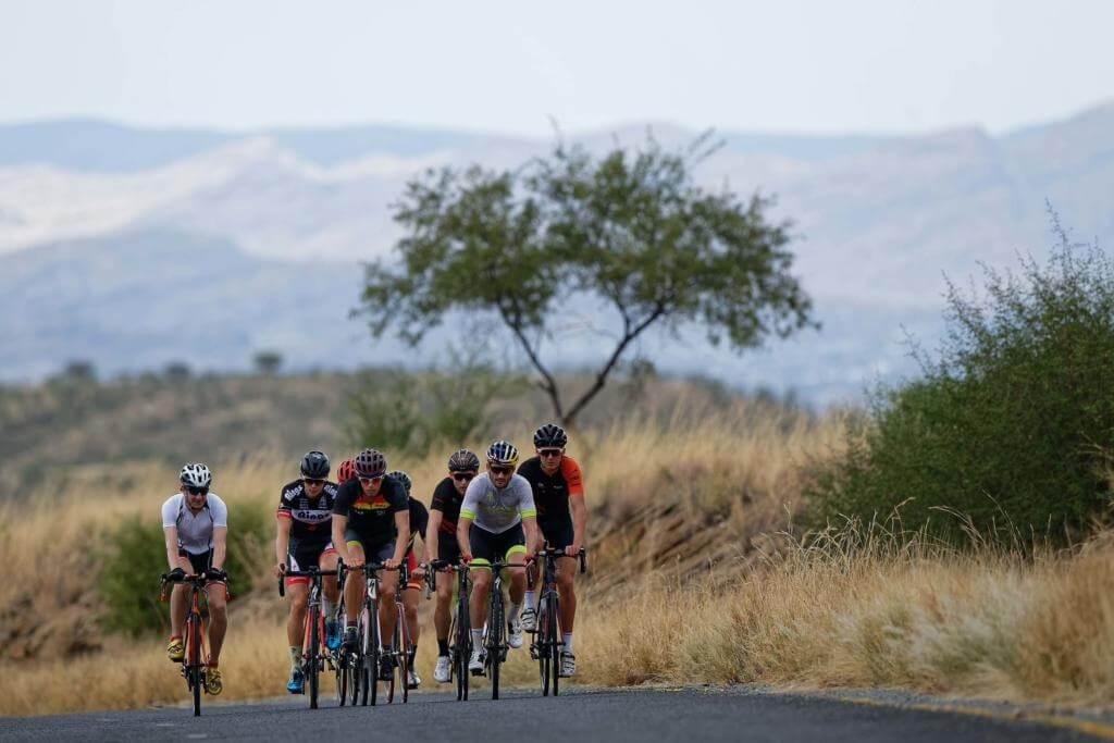 Namibia-Trainingslager-Radgruppe