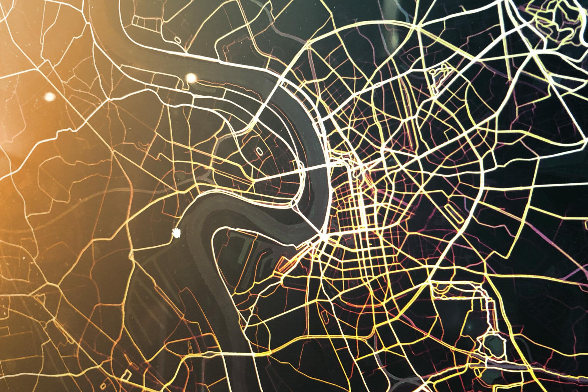 Strava Heatmap von Düsseldorf