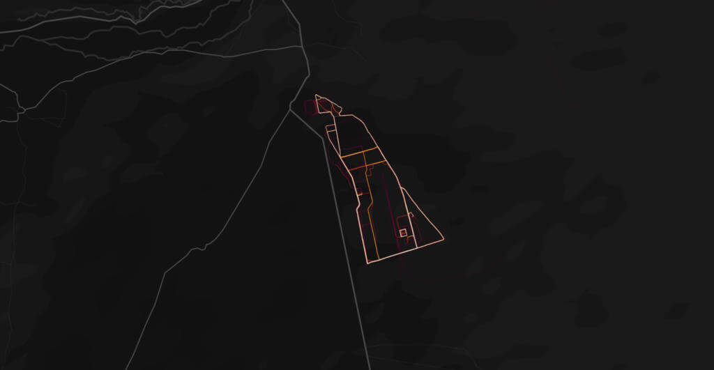 US Basis in Afghanistian auf der Strava Heatmap