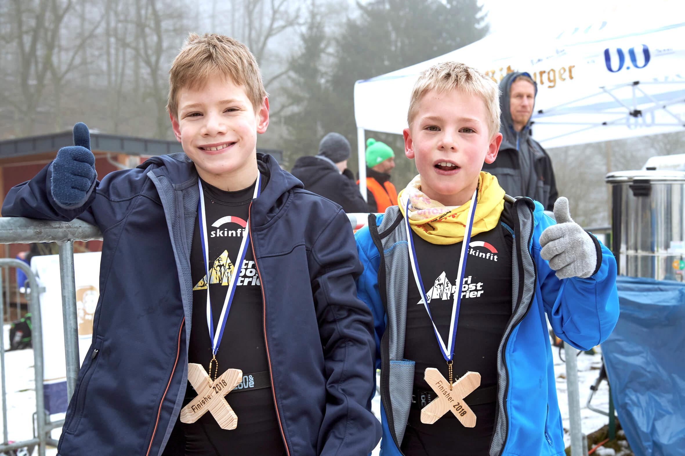 Triathlon-Wettkämpfe-Familie