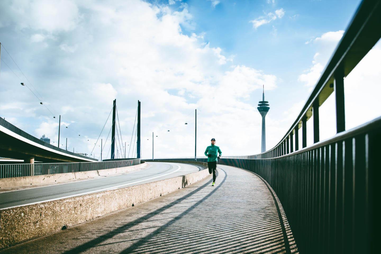 Der Triathlet liebt das Laufen