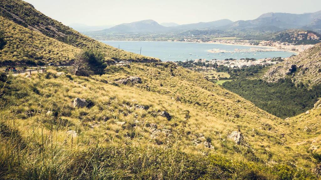 Die Aussicht auf der Rückfahrt vom Cap Formentor