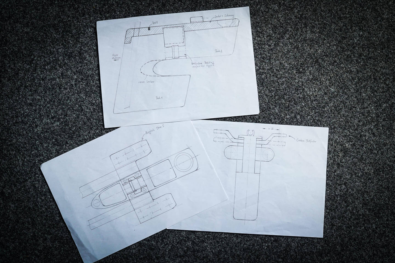 Erster Entwurf des neuen Canyon Speedmax Cockpits