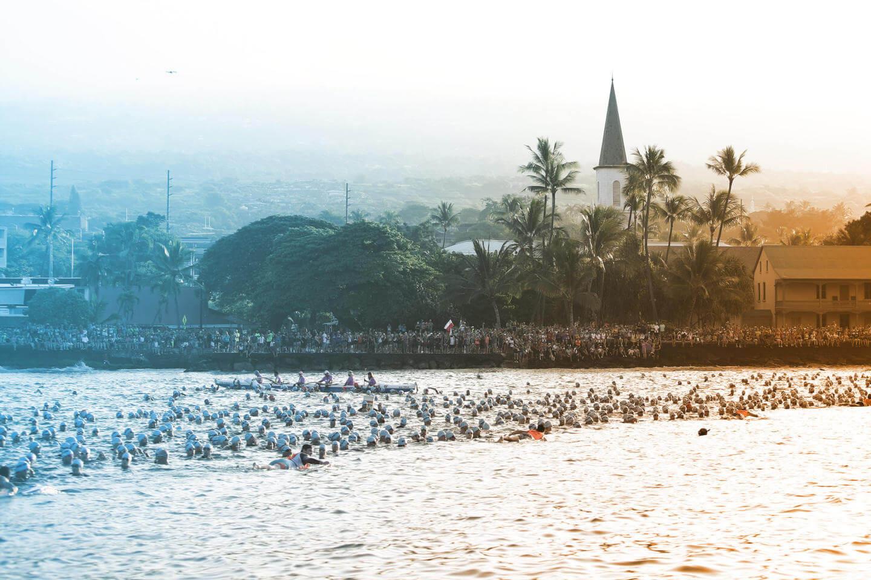 Die Schwimmstrecke des Ironman Hawaii