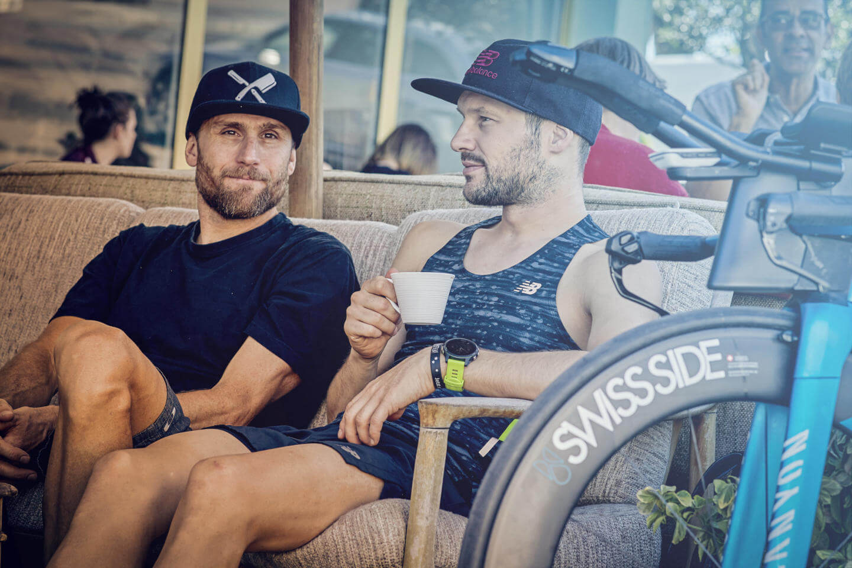 Patrick Lange mit Trainer Faris al Sultan