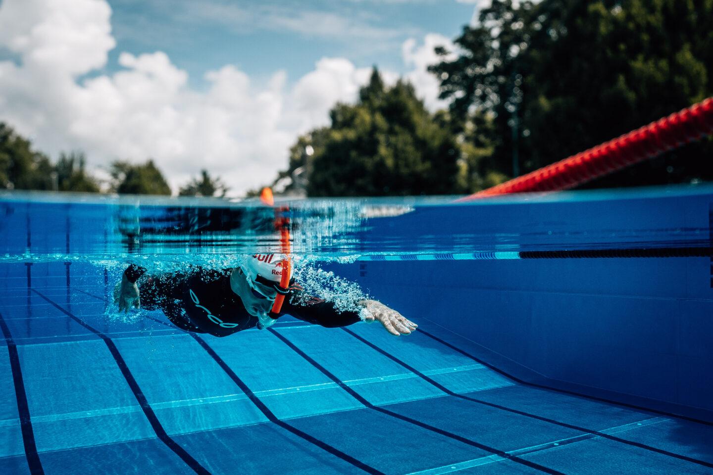 Schwimmen Training Sebastian Kienle